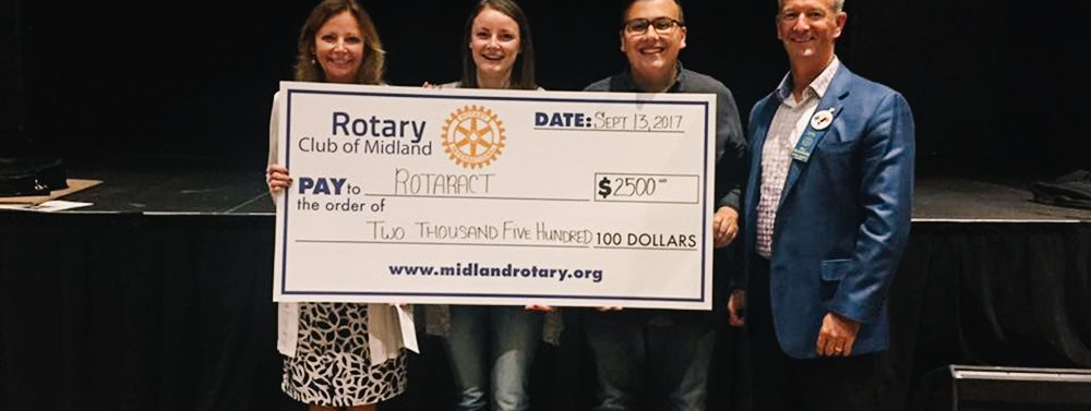 Rotaract Receives $2,500 from Rotary Club of Midland