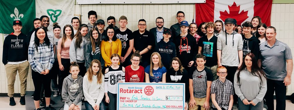 North Simcoe Rotaract Donates $6175.75 to École secondaire Le Caron