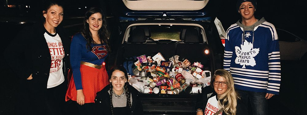 Rotaract Collects Food for Food Bank
